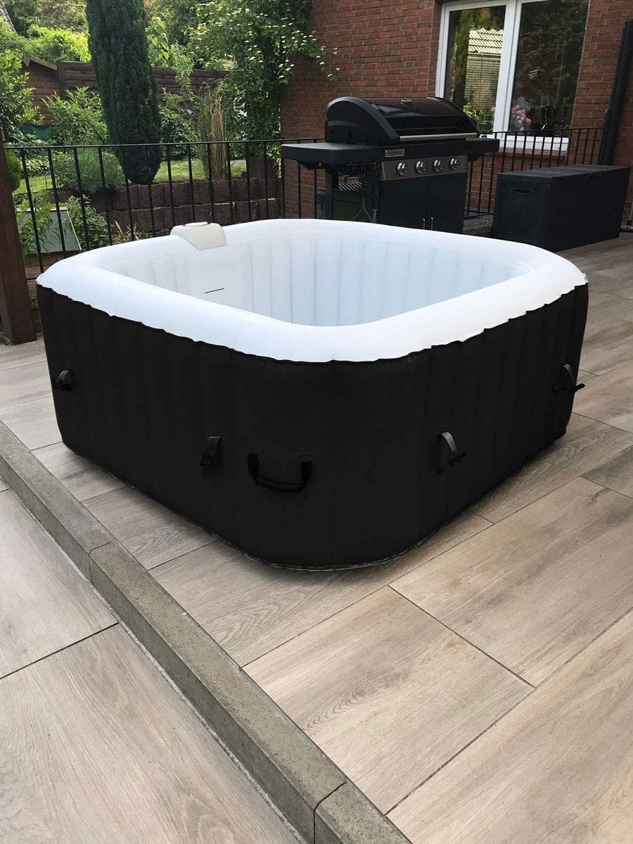 Spa y jacuzzi inflable de XQmax, Relax Wellness, 600 litros, 3 ...
