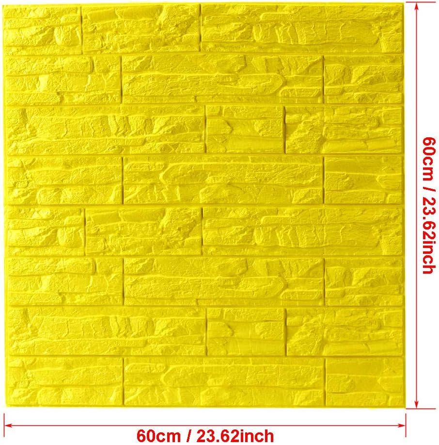 DIY Pared Pegatinas Decoraci/ón de Pared en Relieve Piedra de ladrillo Para Casa Oficina PE de Espuma de 3D Wallpaper 1 Pc, Blanco WANWEITONG 3D Papel Pintado ladrillo