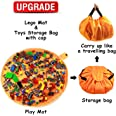 """Toy Bag and Toy Storage Mat Bag by Drawstring for Kids - Toy Organizer and Play Toy Mat Bag Block Storage Container 60"""" with"""