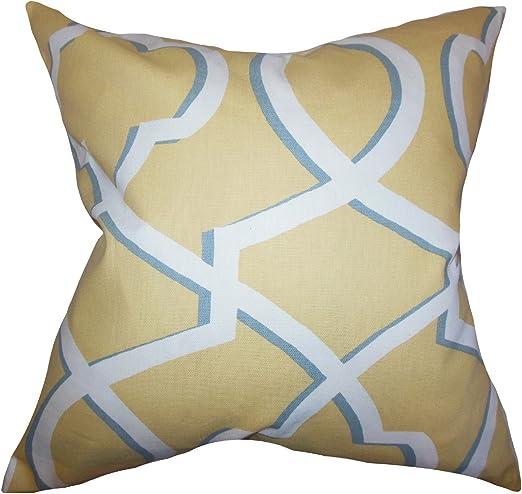 The Pillow Collection Curan Geometric Bedding Sham Blue Queen//20 x 30