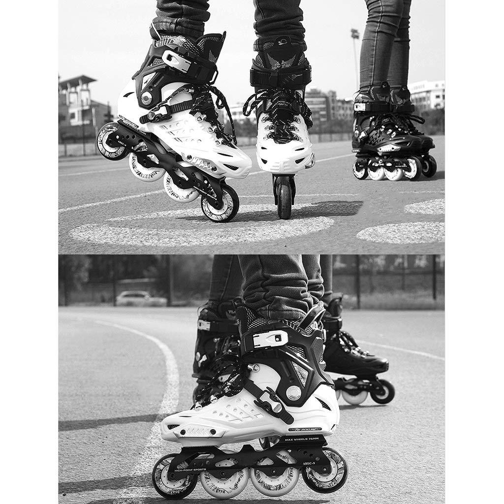 YANGXIAOYU Rollschuhe, Rollschuhe, Rollschuhe, Anzüge Einteilige Halterungen Schwarz Weiß Geeignet Für Erwachsene Teenager B07QSQWF5C Inline-Skates Sport entzündet das Leben 4426c5