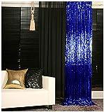 Sequin Curtains 2 Panels Royal Blue 2FTx8FT
