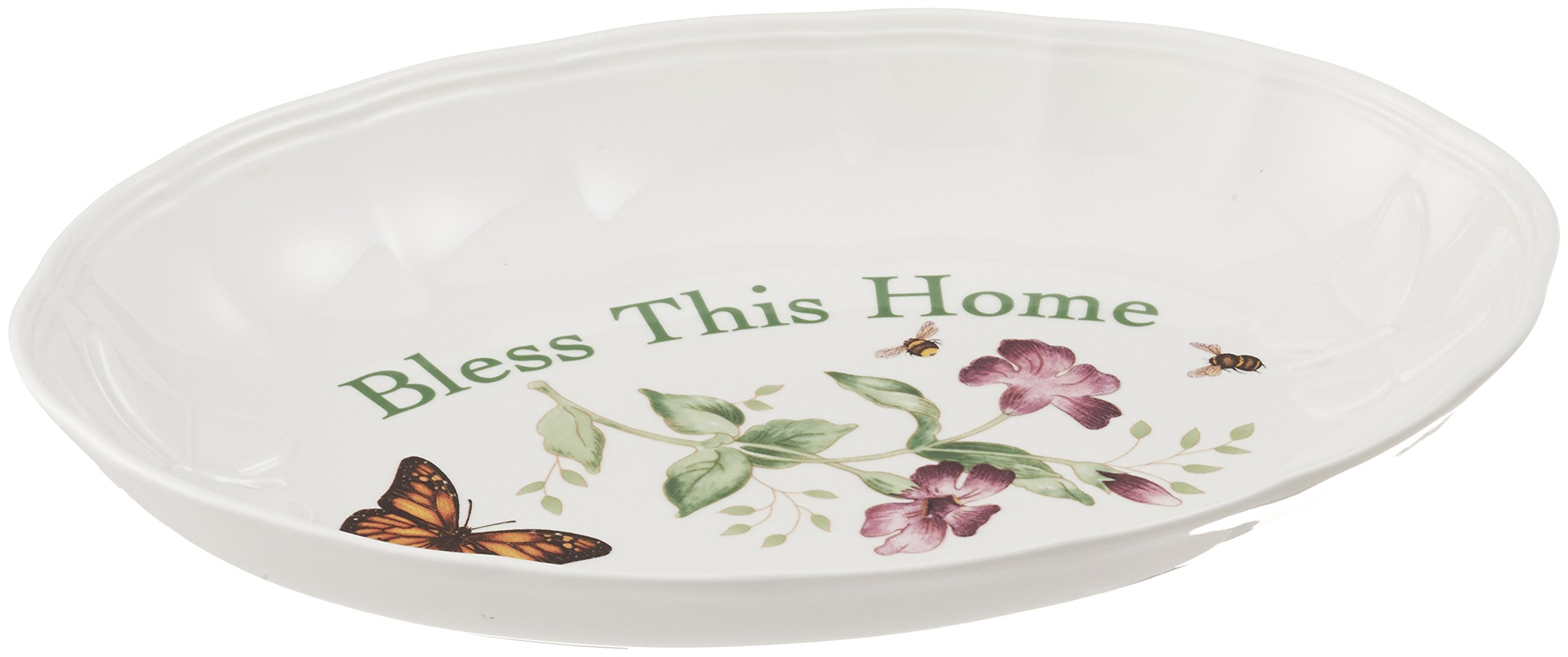 Lenox Butterfly Meadow ''Bless This Home'' Tray