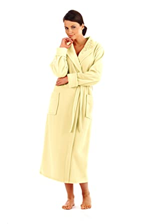 Womens Long Bathrobe Dressing Gown Housecoat at Amazon Women\'s ...
