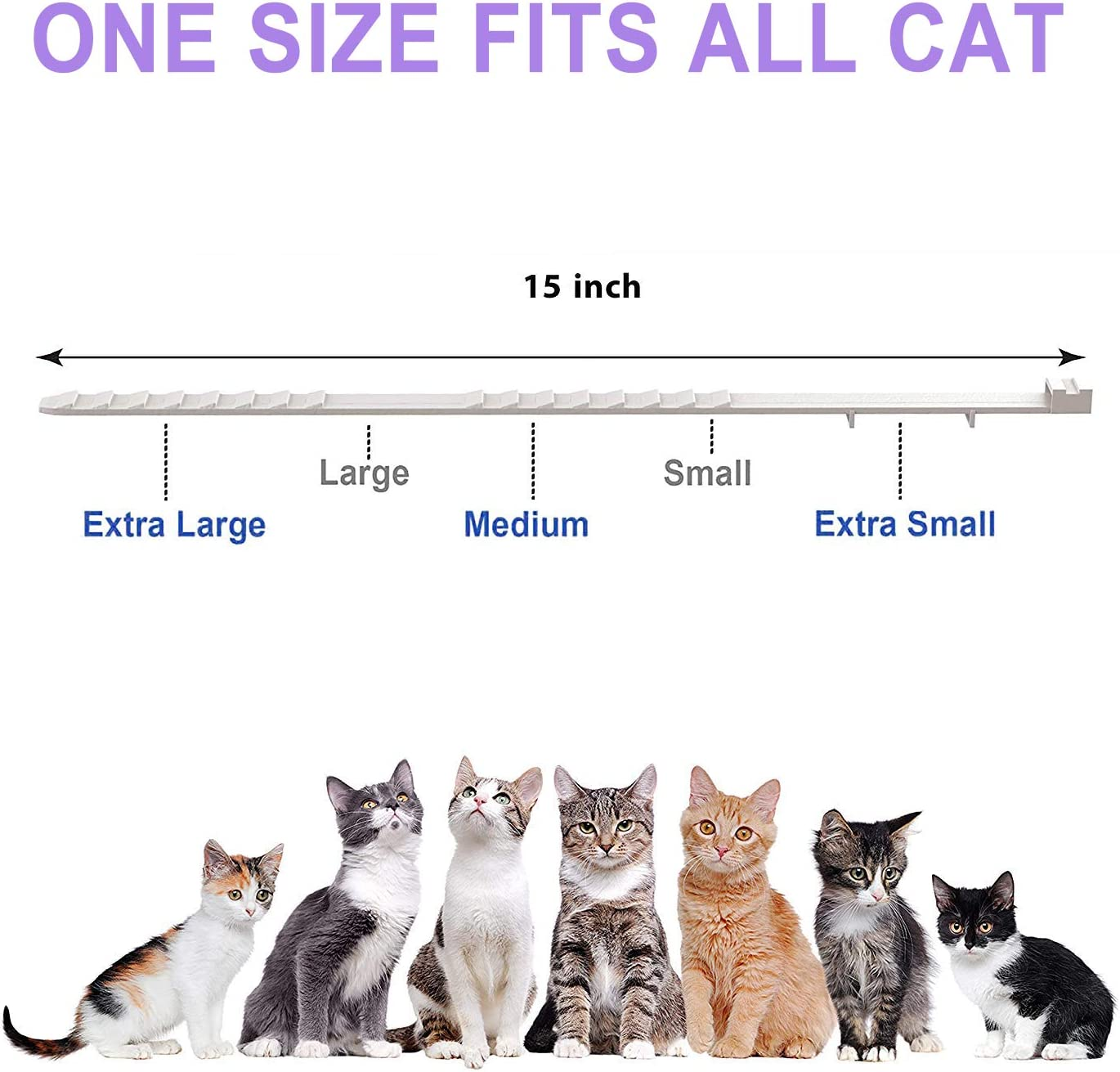 Fedciory Calming Collar for Cats, Adjustable Relieve Reduce Anxiety Pheromone Your Pet Lasting Natural Calm Collar Up to 15 Inch Fits Cat : Pet Supplies
