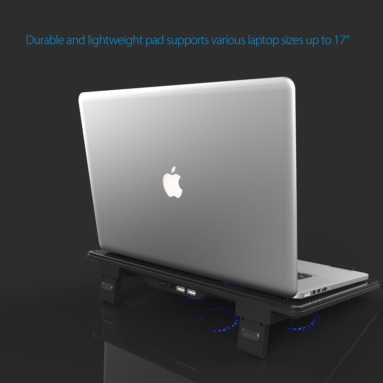Avantek LC-173 - Base de refrigeración para ordenador portátil (LED azul), negro: Amazon.es: Hogar