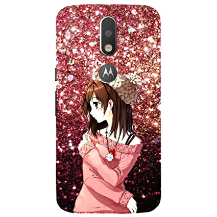 size 40 47060 3d047 MyBestow Beautiful Girl - Mobile Back Case Cover for Motorola Moto G4 Plus