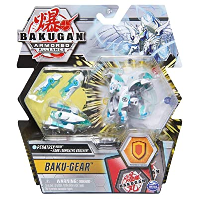 Bakugan Ultra, Haos Pegatrix with Transforming Baku-Gear, Armored Alliance 3-inch Tall Collectible Action Figure: Toys & Games