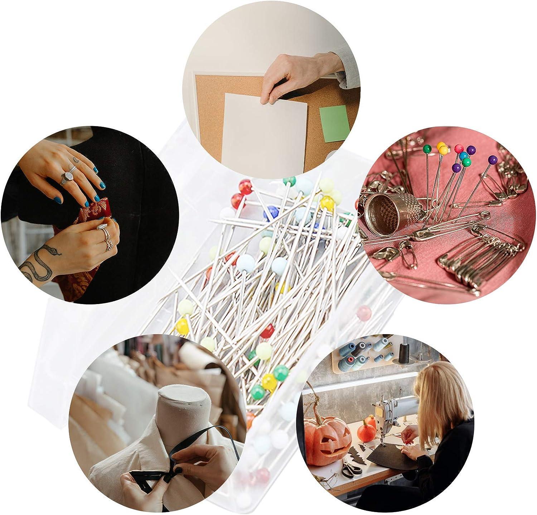 Manualidades y Proyectos de Costura AIEX 100 Piezas 3,2 cm Alfileres de Costura con Cabeza de Bola de Vidrio Colorida Alfileres de Acolchado Rectos para Joyer/ía de Modista Decoraci/ón de Bricolaje