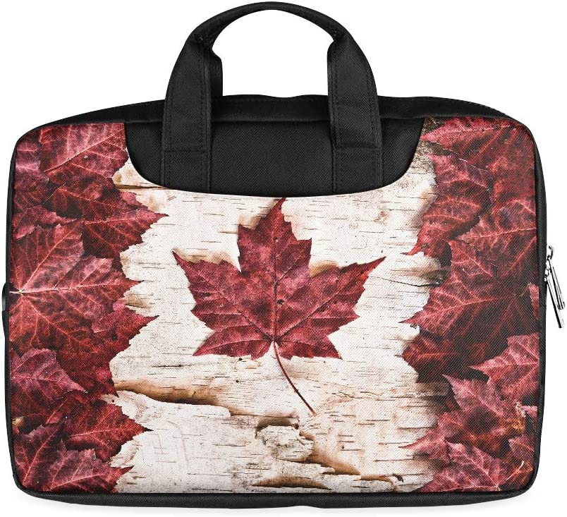 13 Inch The Image of The Flag of Canada Constructed Entire Laptop Bag for Boys with Handle Lightweight Laptop Slim Briefcase Fits MacBook Air Pro