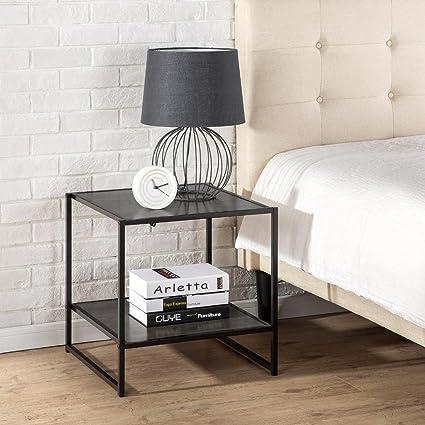 Amazon.com: Mesa auxiliar cuadrada y moderna de la marca ...