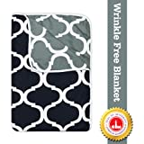 Divine Casa Natty Abstract Microfibre Single Dohar - Grey and Black
