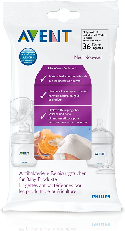 Philips-Avent SCF295/36 - Toallitas antibacterias para chupetes o biberones (36 unidades): Amazon.es: Bebé