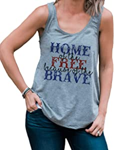 Giveaway: 7 ate 9 Apparel Women's Home of The Free 4th of July Grey...
