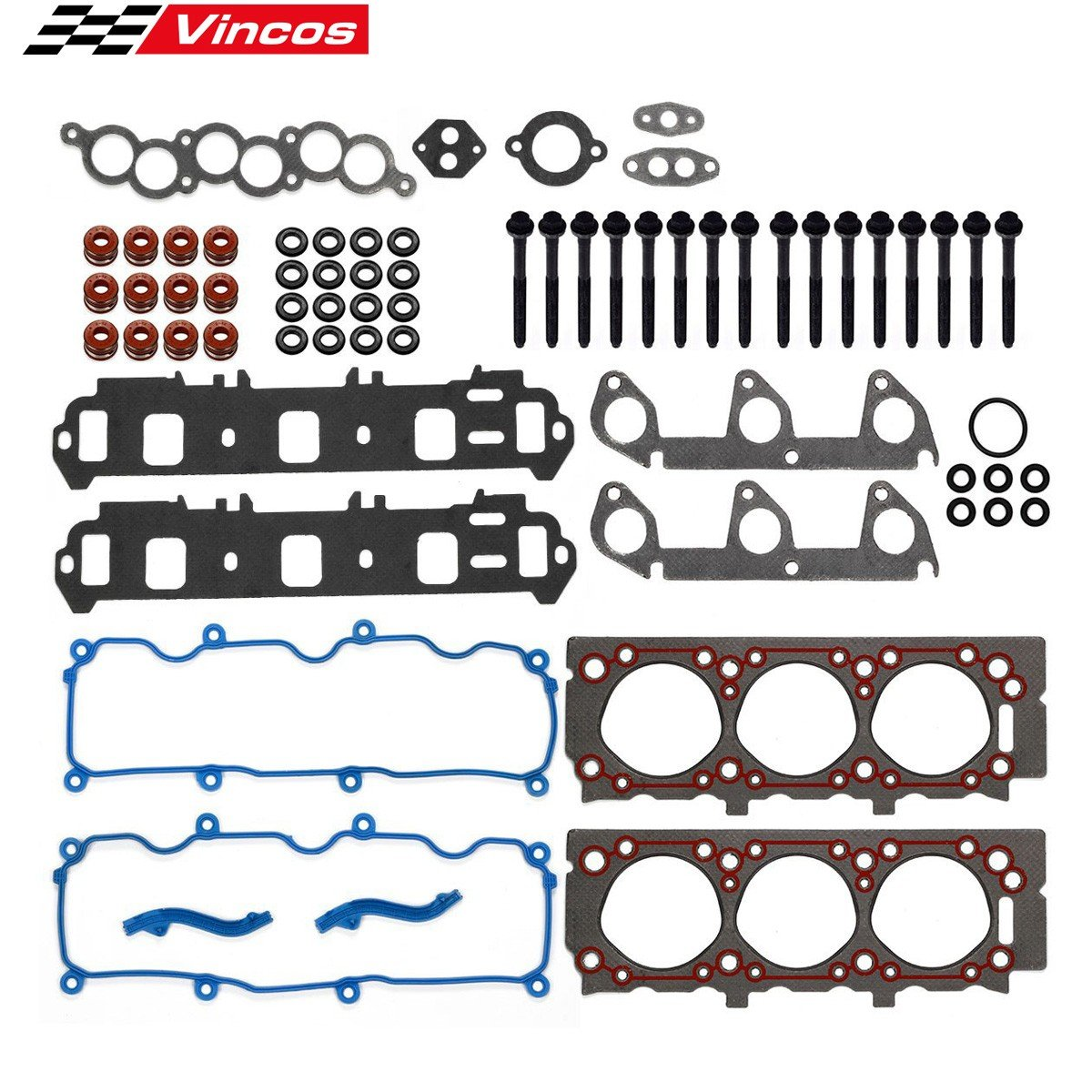 Cylinder Head Gasket with Bolts kit Fits for 1998 99 2000 01 Ford Ranger Mazda 3.0L