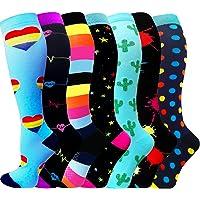 ACTINPUT 3/7 Pares Calcetines de compresión para Mujeres y Hombres 20-25 mmHg es el Mejor atlético, Correr,Escalar…