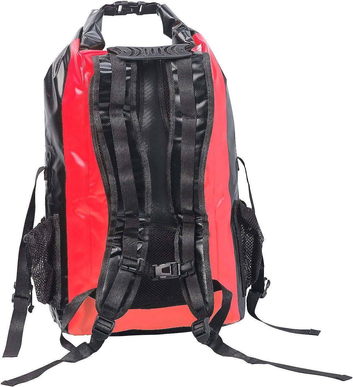 Sac /à dos trekking /étanche en toile de b/âche 30 L noir coloris rouge