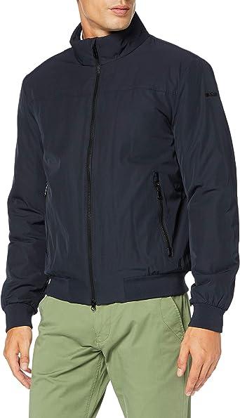 Destilar de múltiples fines Basura  Geox Men's M Vincit C Bomber Jacket: Amazon.co.uk: Clothing