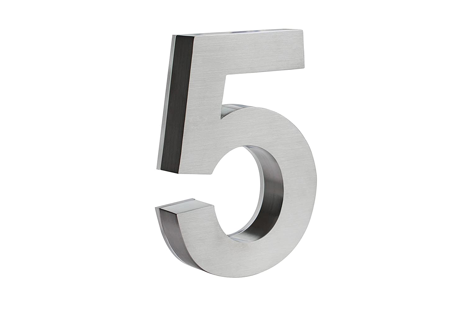 12 Inches LED House Numbers by JELSCO | Modern Big Sign Address Numbers White (5)