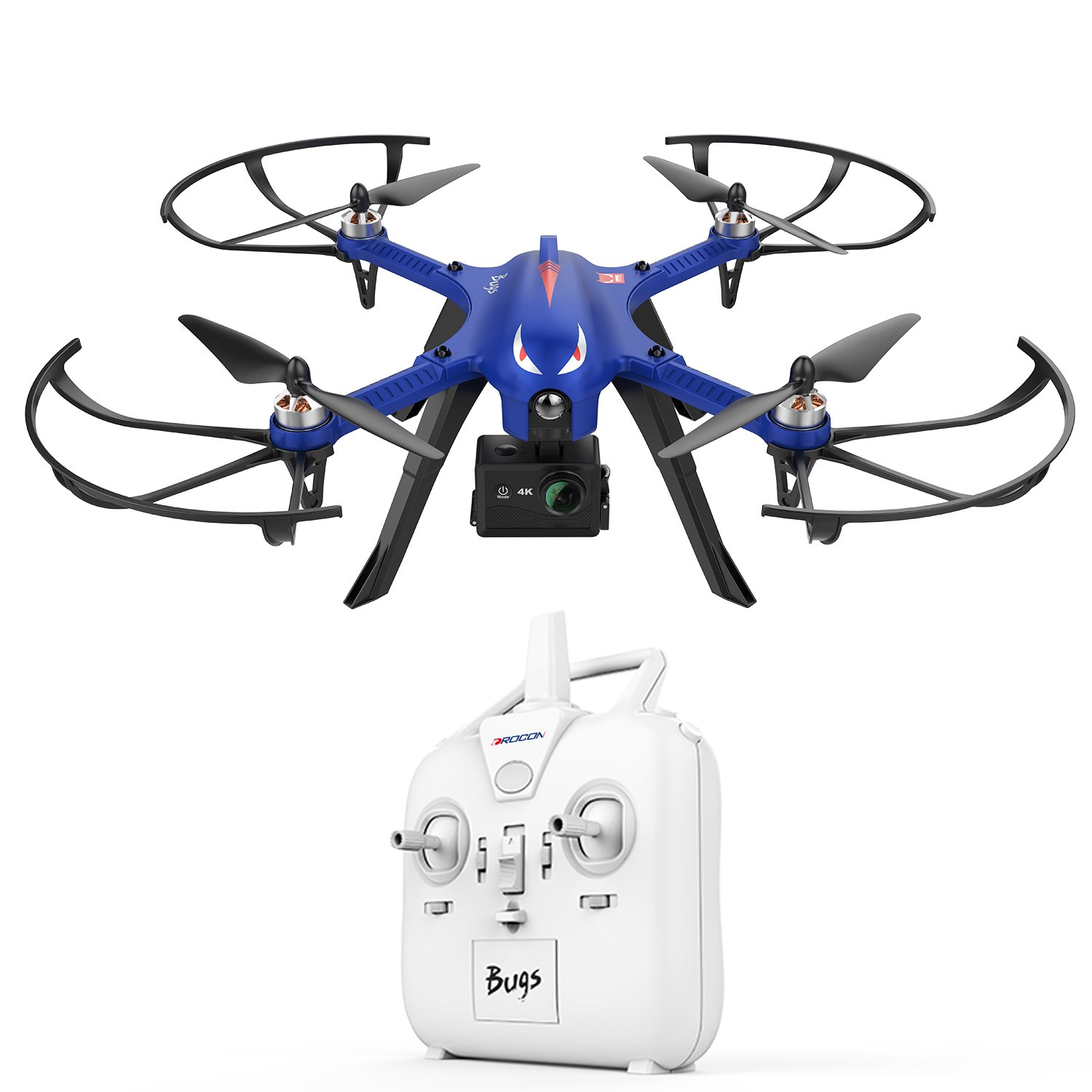 DROCON Bugs 3 Powerful Brushless Motor Quadcopter Drone for Adults and Hobbyilists, High Speed Flying Gopro Drone, Suport Gopro HD Camera 4K Camera, 18Min Flying Time  300 Meters Long Control Range