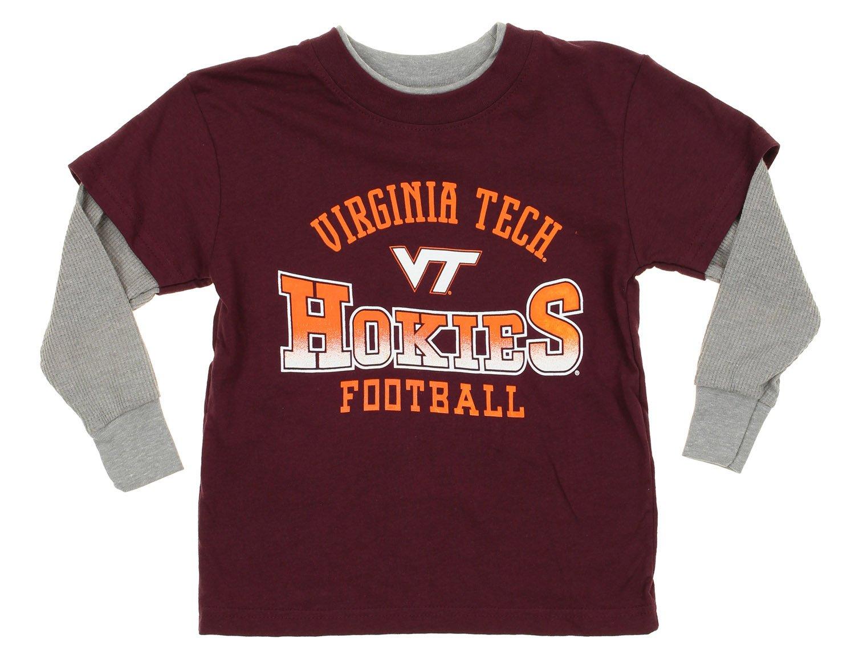 買得 NCAA Large 4 Little Boys ( 4 – 7 ) Faux Kids Faux Layer Long Sleeve Tee、多くのチーム Large (6X/7) Virginia Tech B0723DRKVP, 美StarShop:01278509 --- a0267596.xsph.ru