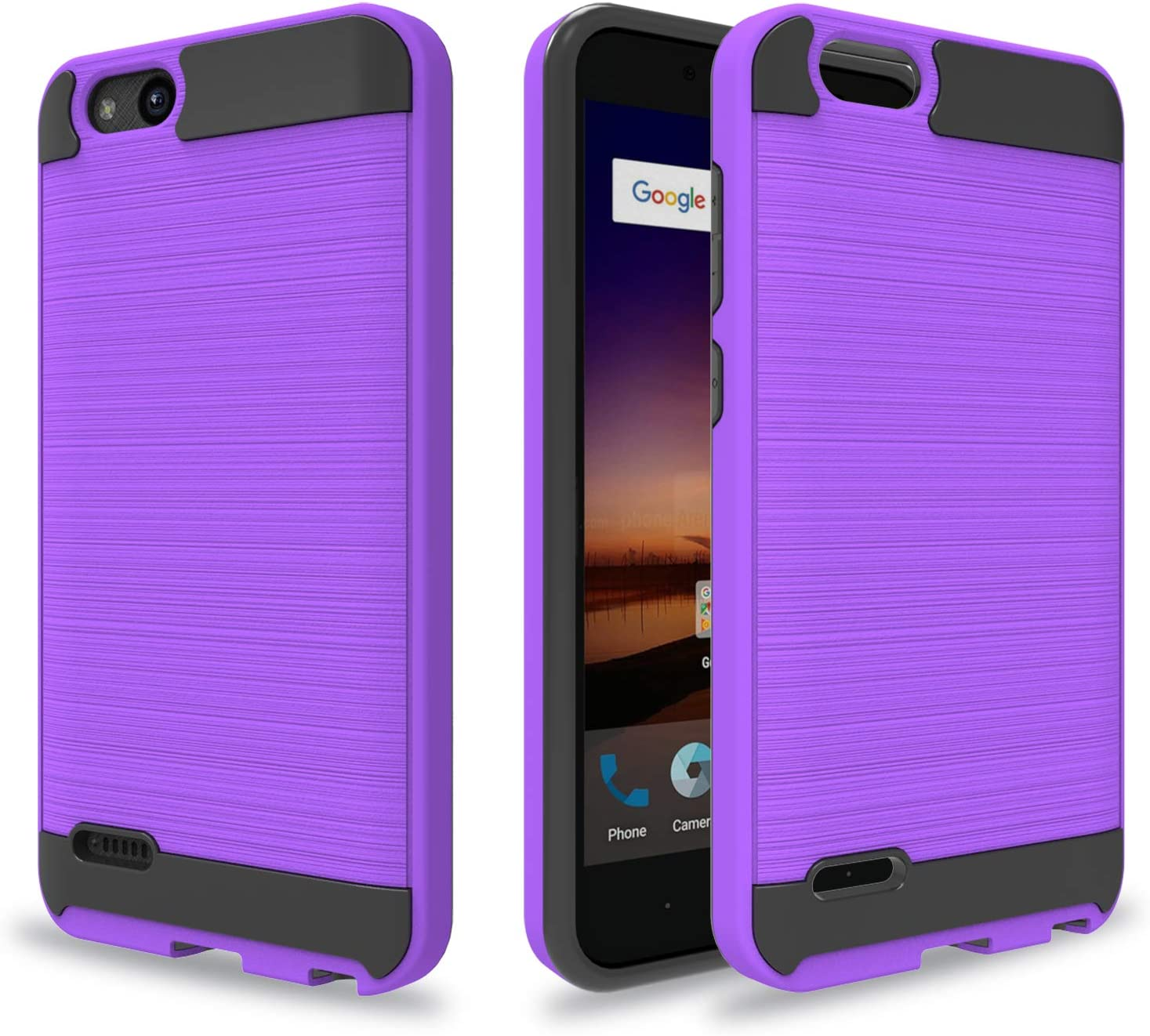 Ayoo:ZTE Tempo X Case,ZTE Avid 557 / ZTE Z839 Case,ZTE Fanfare 3 Case,ZTE Blade Vantage Case,ZTE Avid 4 Case,ZTE Fanfare 3 Z852 Case,ZTE Tempo Go Case,Brushed Texture Case for ZTE N9137-ZS Purple