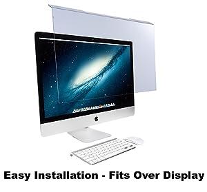 "EYES PC Blue Light Screen Protector Panel for Apple iMac 27"" Diagonal LED Monitor (W 25.31"" X H 15.08""). Blue Light Blocking up to 100% of Hazardous HEV Light. Reduces PC Eye Strain."