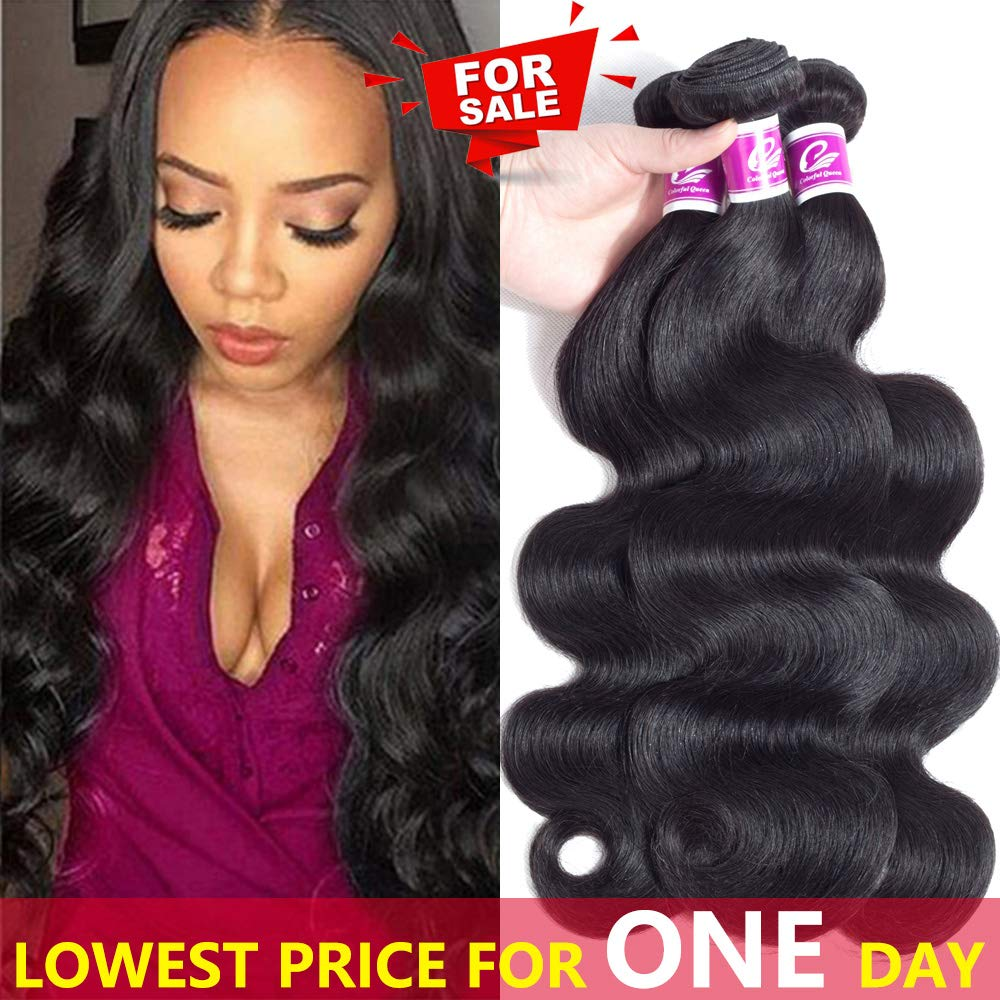 Amazon Colorful Queen Brazilian Virgin Hair Body Wave Remy