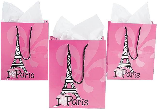 Amazon.com: Bolsas para regalo I Love Paris (versión ...