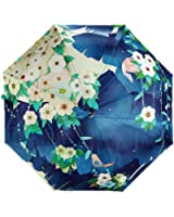Estwell Travel Compact Art Umbrella Foldable Windproof UV Protection Sun Rain Umbrella for Women