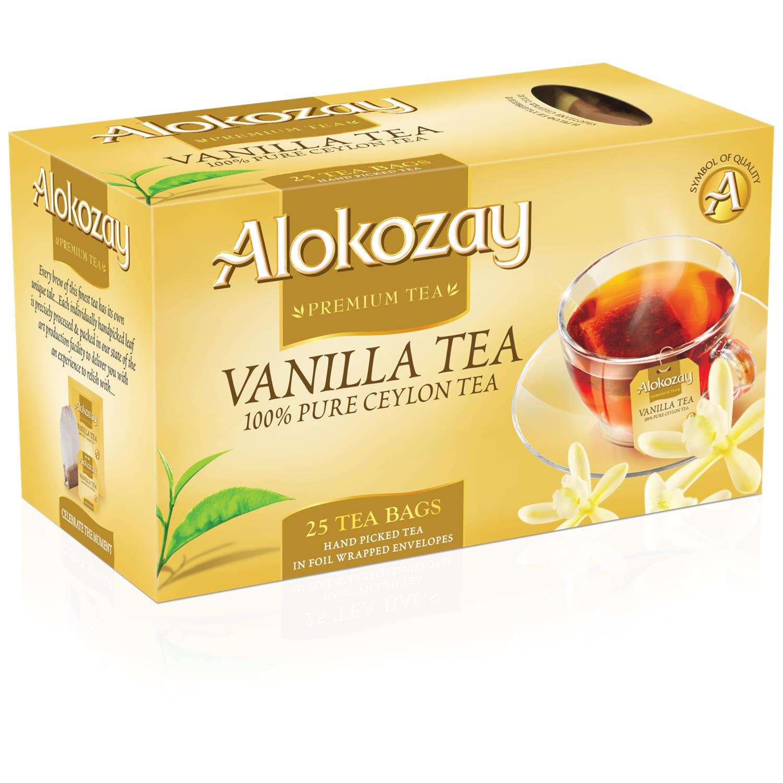 Alokozay Premium Tea, Vanilla Tea, 25 Tea Bags - 50g