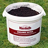 Marshalls Organic Extra 100% Natural Concentrated Farmyard Manure, 22 Litres (approximately 11 Kg) Covers 200 sq.m Garden Fertilisers, Multicolour