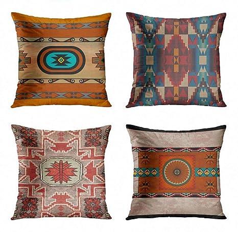 Amazon.com: ArtSocket - Juego de 4 fundas de almohada ...