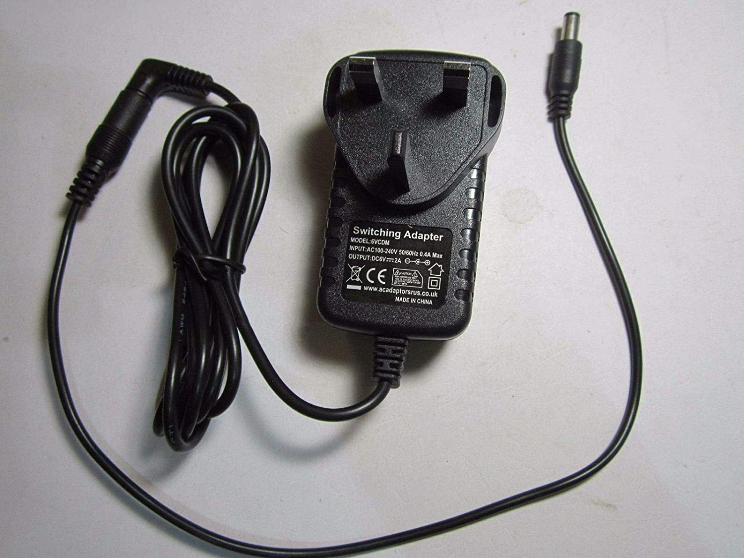 GOOD LEAD 6V 800mA Mains AC DC Switching Adapter Power Supply 3.5mm x 1.3mm 3.5x1.3 Jack