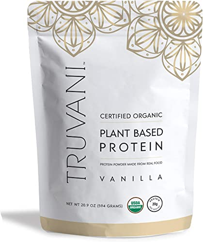 Truvani – Plant Based Protein Powder – Vanilla, Net WT 20.9oz 594 Grams