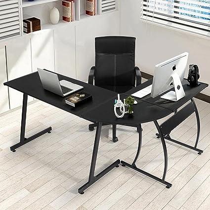 Vetrineinrete® Scrivania angolare moderna per ufficio e casa tavolo ...