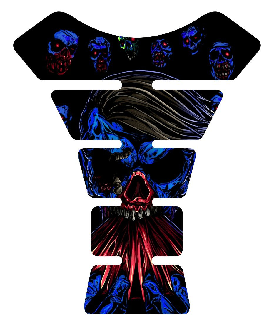 The walking Dead Zombie Blue Motorcycle Tank Pad protector Decal Immortal Graphix 4333345243
