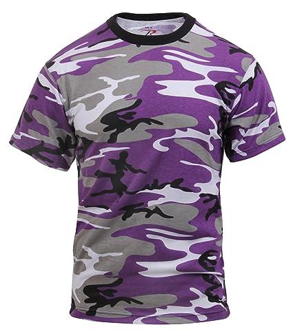 ff38923a85e Amazon.com  Rothco T-Shirt Ultra Violet Camo  Sports   Outdoors