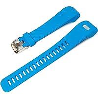 Tuff-Luv Replacement Silicone strap Bracelet Wrist Band for Garmin VivoSmart HR + Plus/Approach X10 Smartwatch Activity Tracker - Blue