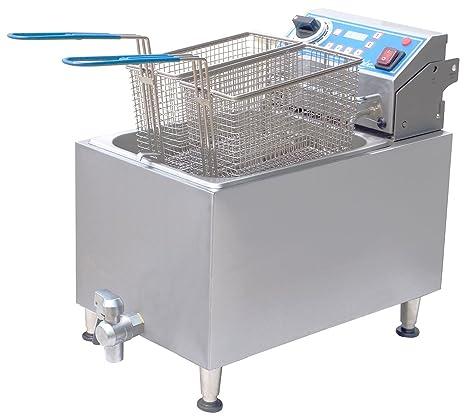 Amazon.com: Caldera eléctrica con 2 cestas y desagüe ...