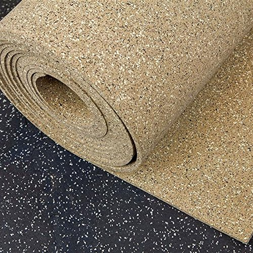 IncStores 8mm Designer Series Gym Flooring Rubber Rolls - Coffee Creek (4ft x 25ft (100 Sqft), Coffee Creek (95% Color Fleck))