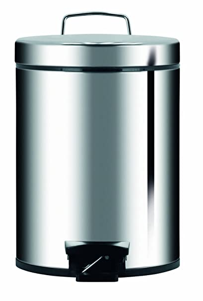 Brabantia 389146 5-Liter Pedal Bin, Brillant Steel