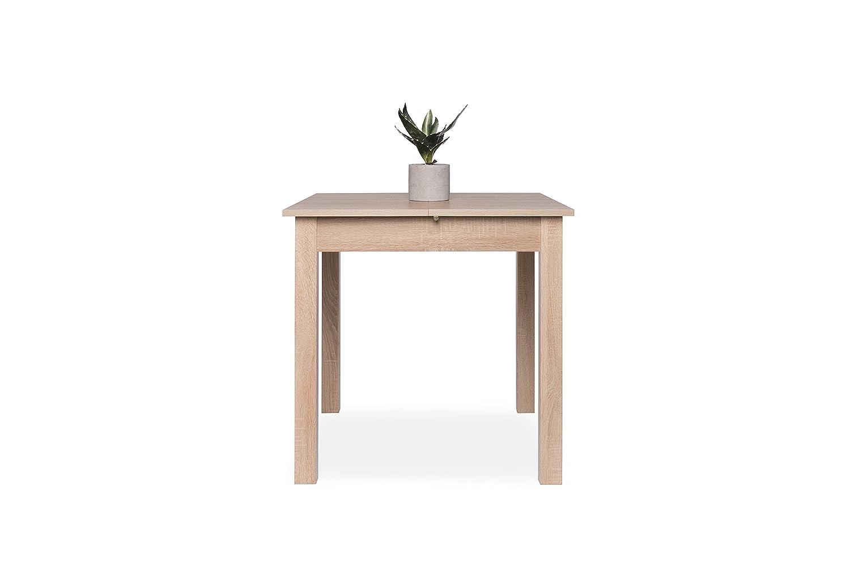 Inter Trade Corporation 2043  Coburg Table de salle à manger Extensible  Bois Chêne Sonoma 80 x 80 x 76 -5 cm