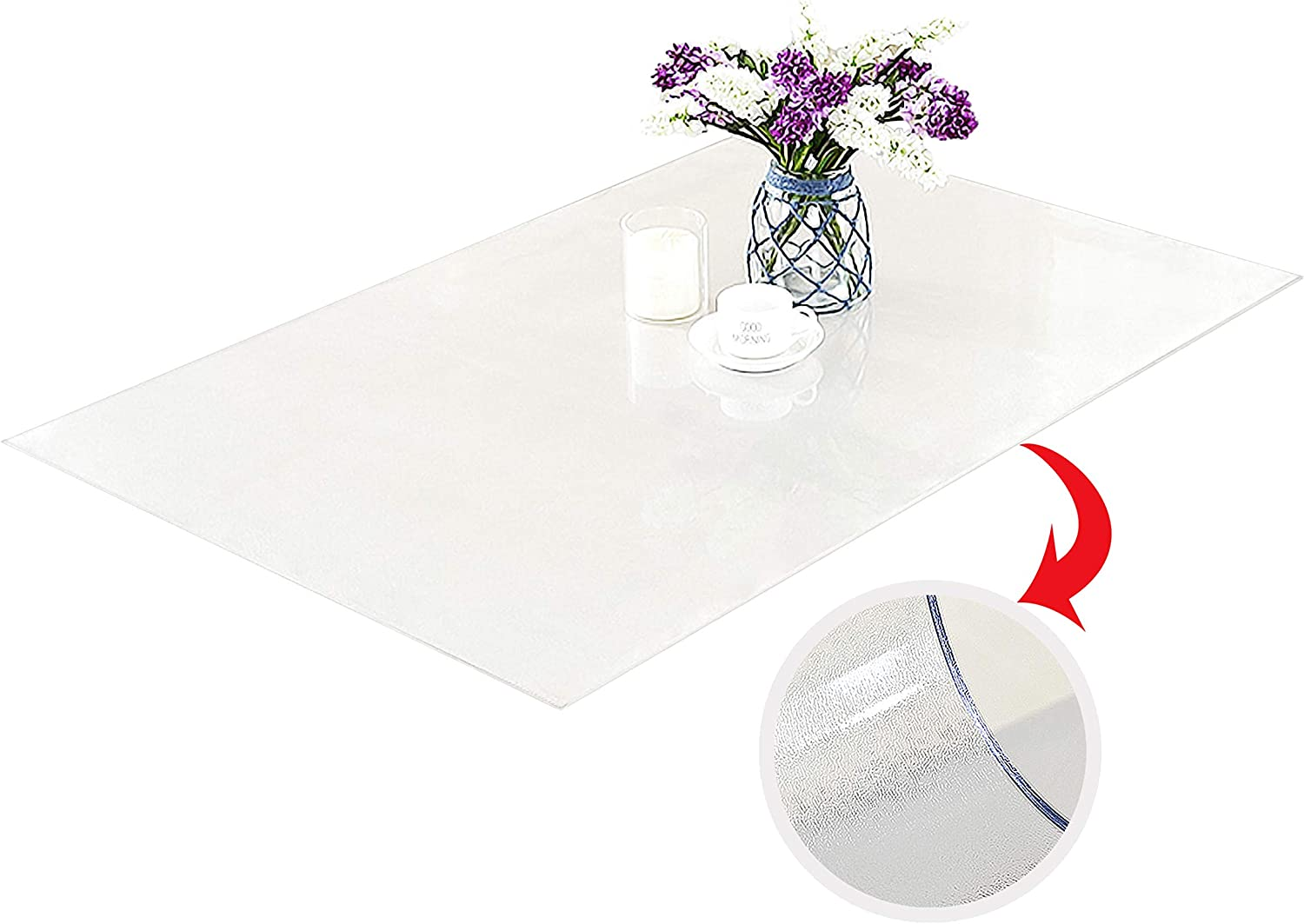 Plastic Table Cloth For Kitchen Wooden Table Table Pad For Dining Room Table 80x40 Custom 80 X 40 Inch Clear Table Cover Clear Table Cloth Cover Protector Table Pads Home Kitchen