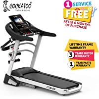 Cockatoo CTM09 3.75 HP Peak Motorised Auto-Incline and Multi Function Treadmill with Massager & Auto Lubrication(Free Installation Assistance)