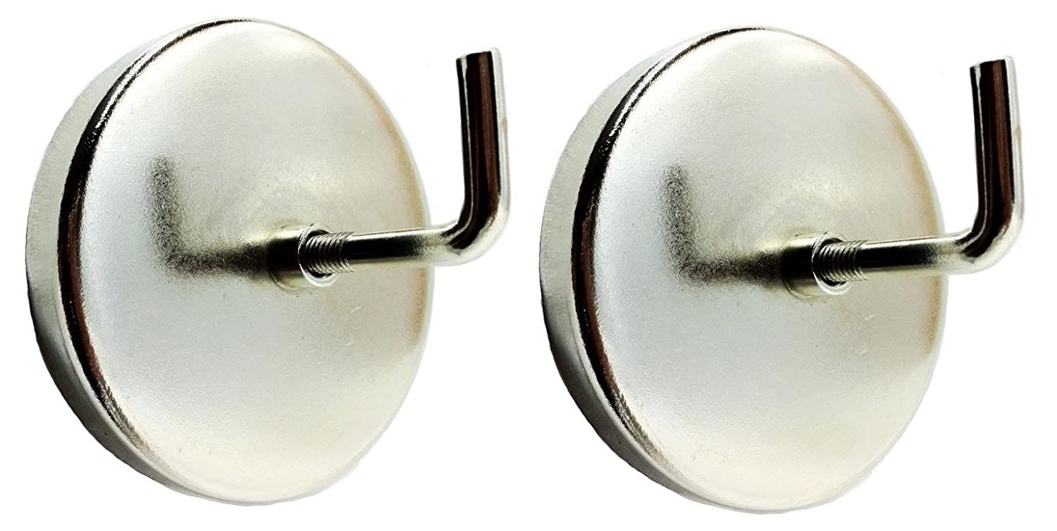 Adheres to Any Steel Surface Better Houseware Silver Stainless Steel Single Magnetic Hook 2 Diameter Magnet Industrial Strength Magnet Holds Heavy Items on Sturdy Swivel Hook with 3 of Depth