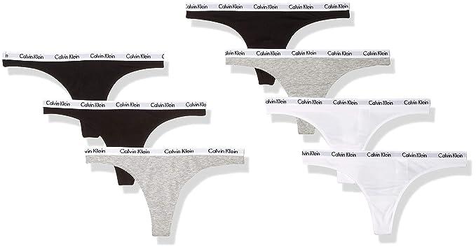 760030a2c Calvin Klein Women s Cotton Logo Carousel Thong Panty 3 Pack