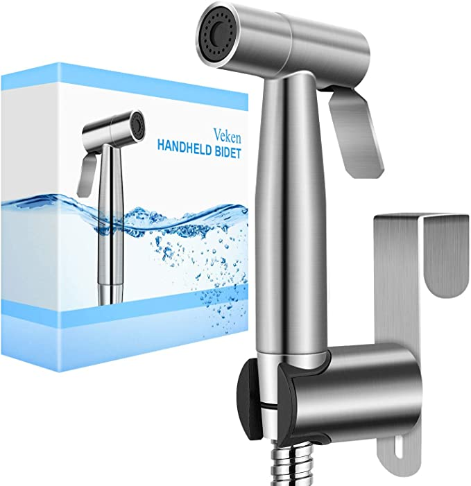 Handheld Toilet Bidet Sprayer Adjustable Spray Attachment With Hose Faucet Kit