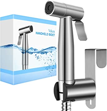 Veken Handheld Bidet Sprayer For Toilet 2 Water Pressure Option Spray Attachment With Hose For Feminine Wash Baby Diaper Cloth Washer Stainless Steel Cleaner And Shower Sprayer For Pet Amazon Com