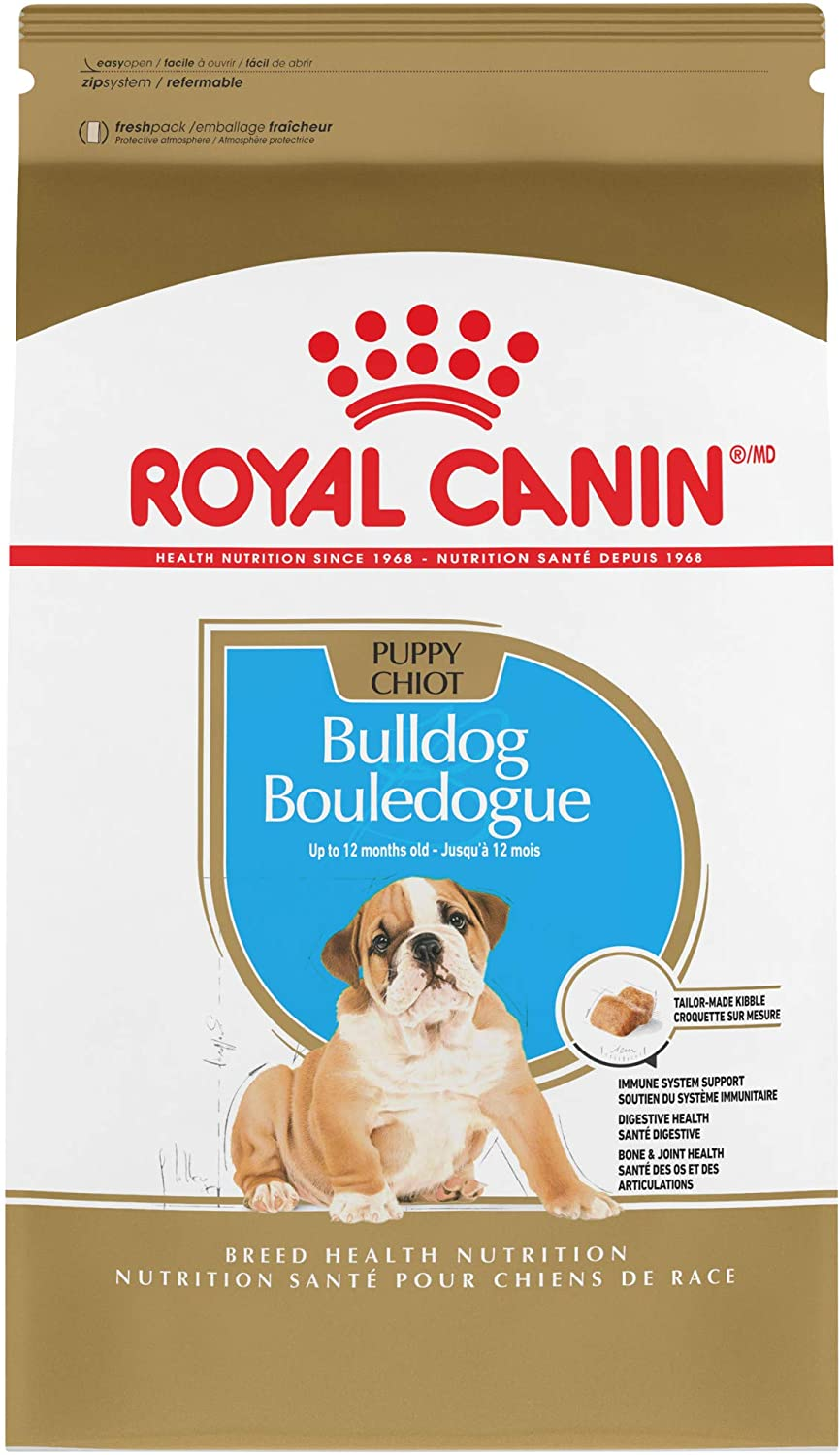 Royal Canin Bulldog Puppy Breed Specific Dry Dog Food, 30 lb. bag